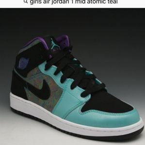 Girls Air Jordan 1 Mid Atomic Teal